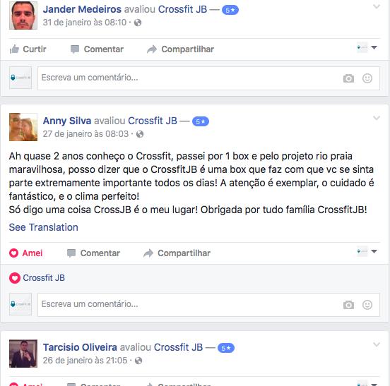 depoimentos facebook